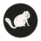 Monochrome cute cat Stock Images