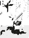 Monochrome cybernetic composition royalty free illustration