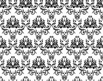 Monochrome damask wallpaper Royalty Free Stock Image