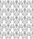 Monochrome damask wallpaper Royalty Free Stock Photography