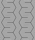 Monochrome dark hexagonal zigzag Royalty Free Stock Photo