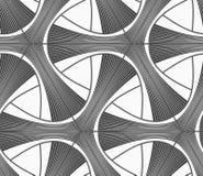 Monochrome dark striped tetrapods with grid Royalty Free Stock Photos