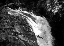 Monochrome de cascade d'Ingleton Photo stock