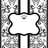 Monochrome decoration frame Royalty Free Stock Photo