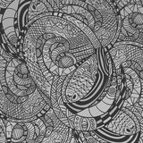 Monochrome decorative Snake Pattern Royalty Free Stock Photo