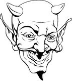 Monochrome devil face Stock Images