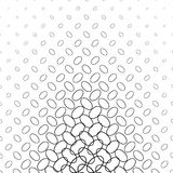 Monochrome diagonal ellipse ring pattern design Royalty Free Stock Photo