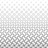 Monochrome diagonal ellipse ring pattern design Royalty Free Stock Image