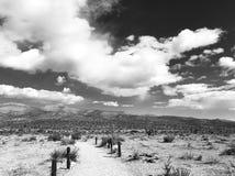 Monochrome do céu do deserto Fotos de Stock