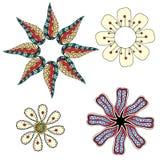 Monochrome doodle flowers Royalty Free Stock Image