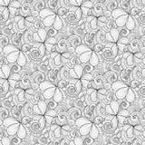 Monochrome Doodle St Patrick`s Day Seamless Pattern Royalty Free Stock Photo