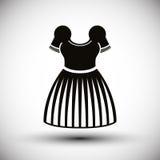 Monochrome dress vector icon. Stock Photos