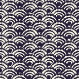 Monochrome dyed effect tribal wave background inspired by Japanese traditional Seigaiha designs and Ikat dyeing technique. Vector seamless pattern vector illustration