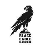 Monochrome eagle logo. Monochrome black eagle logo, symbol Vector illustration stock illustration