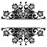Monochrome element. Vector bright abstract contemporary element Stock Photo