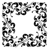 Monochrome element. Vector bright abstract contemporary element Stock Photos