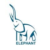 Elephant. Monochrome elephant icon, vector illustration Royalty Free Stock Images