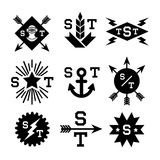 Monochrome emblems Royalty Free Stock Images