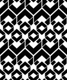 Monochrome endless vector texture with geometric figures, motif Stock Photography
