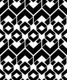 Monochrome endless vector texture with geometric figures, motif stock illustration