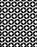 Monochrome endless vector texture with geometric figures, motif Stock Images