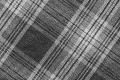 Monochrome fabric with an slanting checkered. Monochrome texture of woolen fabric with an slanting checkered pattern for backgrounds and for wallpaper Royalty Free Stock Photo