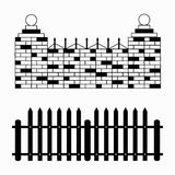 Monochrome fences collection of symbols Stock Photography