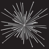 Monochrome fireworks Royalty Free Stock Photo