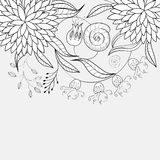 Monochrome floral background Royalty Free Stock Photos