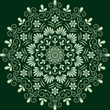 Monochrome floral de modèle circulaire Images libres de droits