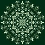 Monochrome floral de modèle circulaire Images stock