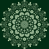Monochrome floral de modèle circulaire Photographie stock