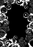 Monochrome floral frame Stock Image