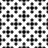 Monochrome floral geometric seamless pattern Royalty Free Stock Photos
