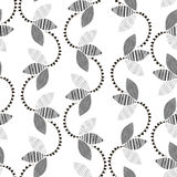 Monochrome floral pattern. Abstract seamless background. Stock Photo