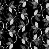 Monochrome floral pattern. Abstract seamless background. Royalty Free Stock Images