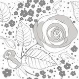 Monochrome floral pattern Stock Image