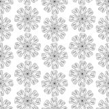Monochrome Floral Pattern. Stock Photo