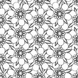 Monochrome Floral Pattern. Royalty Free Stock Photography