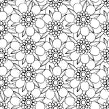 Monochrome Floral Pattern. Stock Image