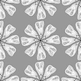 Monochrome Floral Pattern. Stock Photos