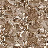 Monochrome Floral Pattern Stock Images