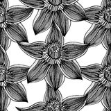 Monochrome Floral Pattern Stock Photos