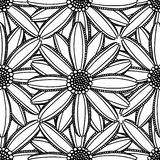 Monochrome Floral Pattern Royalty Free Stock Images