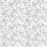 Monochrome floral pattern Stock Image