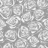 Monochrome floral seamless pattern. Abstract roses Stock Images