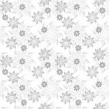 Monochrome floral seamless pattern Stock Images
