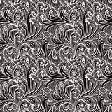 Monochrome floral seamless pattern. Stock Photography