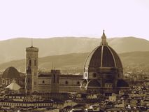 Monochrome of Florence Stock Image