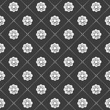 Monochrome flower pattern Stock Images